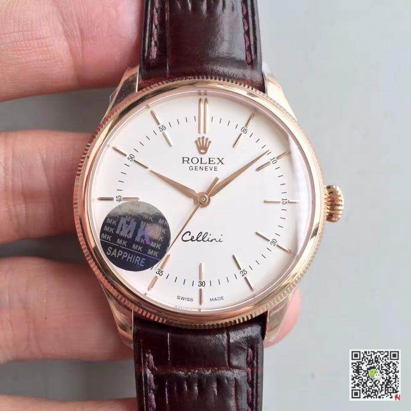 rolex cellini 50505 mks factory v4 white dial 1