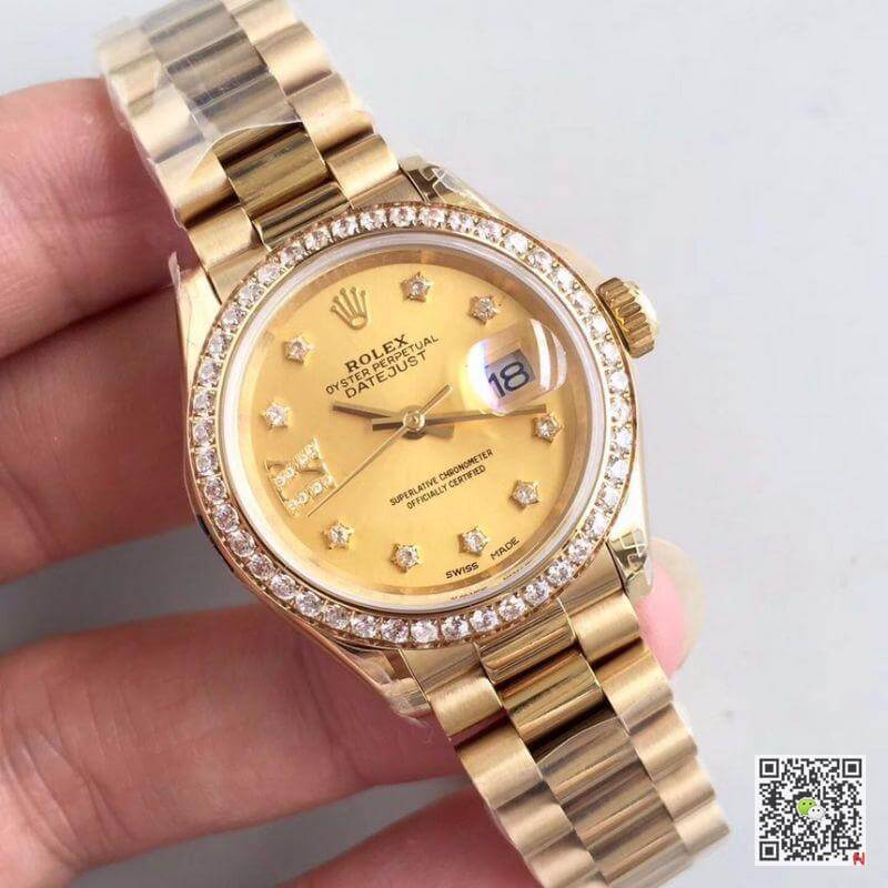 rolex datejust lady m279138rbr yellow gold champagne dial ar factory 2